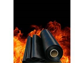 Flame resistant nitrile rubber